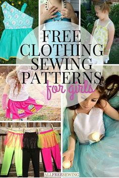 50+ Free Clothing Sewing Patterns for Girls | Such cute clothing patterns!