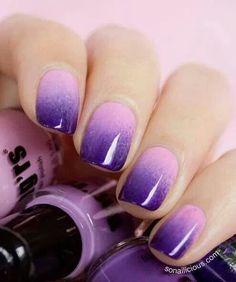 Pretty 2-toned purple!