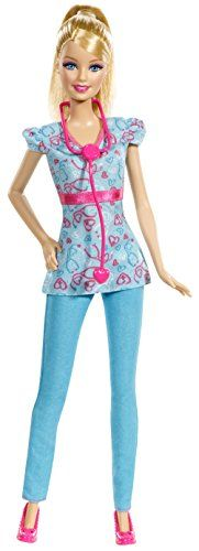 The new updated Barbie Careers Nurse Fashion Doll. Barbie is not only dressed to impress but ready to get her nursing job done. Mattel Barbie, Nurse Barbie, Barbie Style, Doll Clothes Barbie, Doll Toys, Baby Dolls, Doll Party, Barbie Collection, Barbie Friends