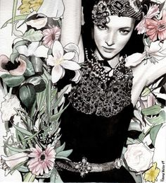 detailed fashion illustration