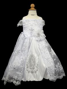 e76b7caa3 Next stop: Pinterest White Satin, Virgin Mary, Pretty Dresses, Girls Dresses ,