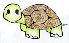 Cute Turtle Drawing Tumblr Into their turtle shell