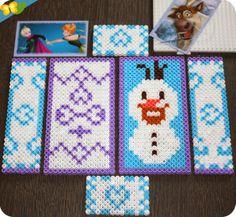 DIY : Une boite en perles Hama pour ranger ses stickers de la Reine des neiges