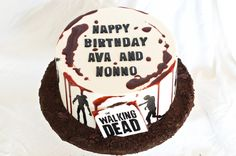 Walking Dead Birthday Cake -handmade by Finespun Cakes & Pastries