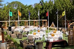 Event produced by Kapture Vision. Camp Retreat, outdoors, event setup, camp