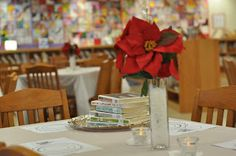 """Miss Liberry Teacher: Book Tasting/// Great program for school libraries. Serve the kids books on silver trays so  they can """"sample"""" something out of their comfort zone. Includes """"rating"""" sheet for them to take notes on which ones they like."""