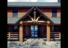 log cabin entrance | ... Home Photos | The Sweetest Thing | Estemerwalt Log Homes - LogHome.com