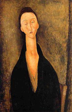 Lunia Czechowska Amedeo Modigliani (1919) Museu de Arte Assis Chateaubriand Painting - oil on canvas
