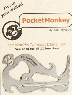 Pocket Monkey: The World's Thinnest Utility Tool!