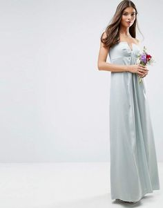 bcac11165e4c6 Bridesmaid bandeau fold front maxi dress  ad  weddings  weddingdress   weddingplanning  weddingguestdress