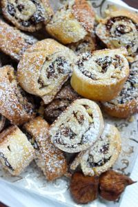 Flaky dough made using healthy greek yogurt. Making it flaky on the outside and tender on the inside, stuffed with delicious Calimyrna figs and walnuts. BEST cookies!