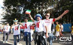 تماشاگران بازی ایران و نیجریه در جام جهانی