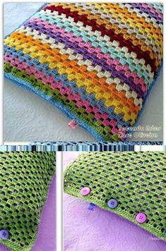 Crochet pillow cushion