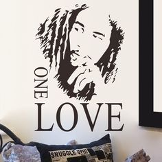2016 Wallsticker BOB MARLEY ONE LOVE Decoration Home Removable Decor Part 54