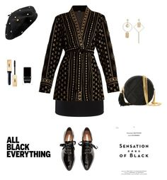 """Monochrome Black!"" by sebolita ❤ liked on Polyvore featuring rag & bone, Dodo Bar Or, H&M, Chanel, Vision, Yves Saint Laurent and Context"
