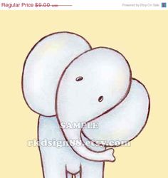 Elephant nursery art print. Maybe @Jade Alvarez Alvarez Alvarez Ashtyn would be willing to paint this for me. :)