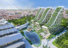 Condomínio eco terá três torres de 100 metros de altura com jardim vertical (Foto: Divulgação)