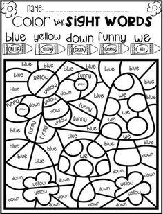 Color by Code Sight Words PrePrimer Season Bundle - Paw Patrol coloring pages - Education Kindergarten Class, Kindergarten Activities, Preschool Activities, Coloring Worksheets For Kindergarten, School Worksheets, Education Quotes For Teachers, Kids Education, Sight Words, Sight Word Coloring