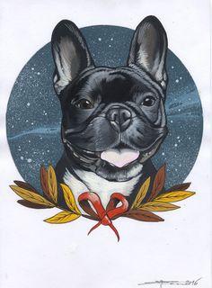 french Bulldog , Frenchie , tattoo design , cute , cutie , bulldog , sketch , drawing , sketchbook