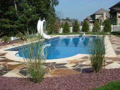 Small backyard inground pool ideas landscape design for Kenny pool design