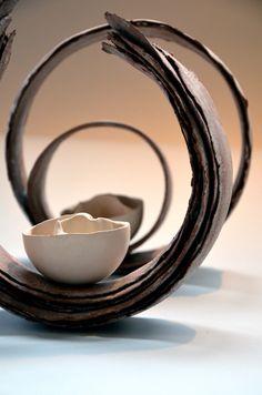 Coquillage sur écorces - Sabine Pagliarulo