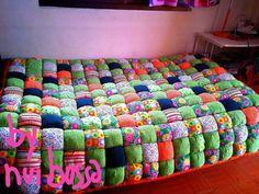 ผ้ารองนอนโทนส้ม-เขียว