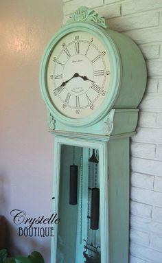 Vintage mint grandfather clock