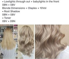 Beige Blonde Hair, Blonde Hair Makeup, Redkin Hair Color, Hair Color Glaze, Hair Color Formulas, Redken Color Formulas, Hair Color Swatches, Matrix Hair Color, Redken Shades Eq