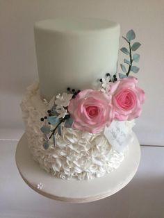 Botanical Birthday Cake by TiersandTiaras
