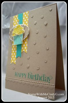 Stampin' Up! - Cup Cake Builder Punch with Create a Cupcake stamp set and Curly Cute stamp set. http://www.stampinup.net/esuite/home/stampwithmecindyg/