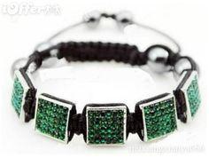MEN jewelry square shamballa woven bracelets hip ho for sale.