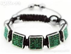 MEN jewelry square shamballa woven bracelets hip ho for sale.