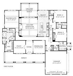 2598 sq ft Rosewood - Home Plans and House Plans by Frank Betz Associates