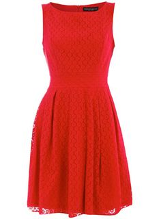 Red lace babydoll dress
