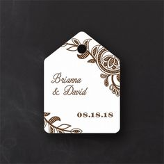 Vintage Pearls and Lace - Favor Tag - White. Available at Persnickety Invitation Studio.