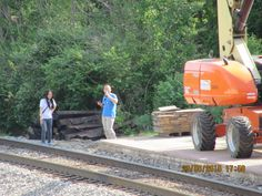 People close to CSX tracks in Lafayette