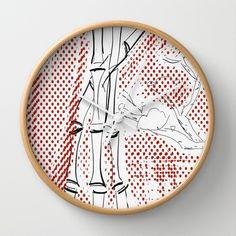 Bamboo+Pattern+Wall+Clock+by+roxyprofiji2+-+$30.00