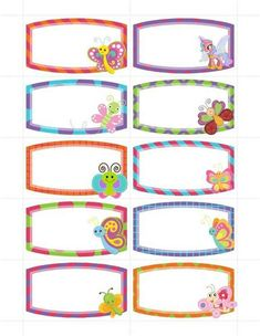 Boarder Designs, Frame Border Design, Page Borders Design, Borders For Paper, Borders And Frames, Cubby Tags, Notebook Labels, Winnie The Pooh Drawing, Planner Stickers