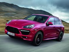 2013 Porsche Cayenne GTS. Finally a cute pink color for once!