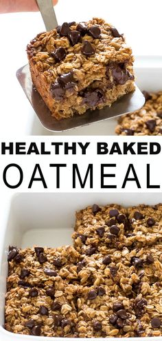 Made Overnight With Coconut Oil And Applesauce To Lighten It Up Nutritious And Satisfying, This Is A Quick And Easy Make Ahead Breakfast That The Whole Family Will Love Healthy Oatmeal Recipes, Oats Recipes, Healthy Dessert Recipes, Healthy Baking, Baking Recipes, Snack Recipes, Easter Recipes, Recipes Dinner, Heart Healthy Desserts
