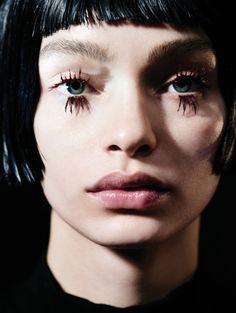 """Anti Pretty"" Luma Grothe by Liz Collins for Vogue China May 2016. Fashion Editor: Ida Wang Hair: Syd Hayes Makeup: Miranda Joyce"