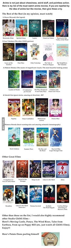 If you like movies and are open to animated ones, then I highly recommend these anime movies. (preferably watch in Japanese with subs)