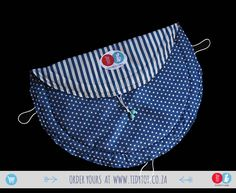 Dots and Stripes have proved so popular that we we're delighted to include this lovely Air Force Blue TIDY TOT to our range. For the discerning Mum you cant go wrong if you chose this beautifully PADDED, made for comfort and convenience, TIDY TOT.