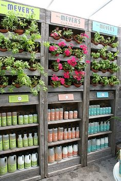 Meyer's does a great job of using the space they have in-store to tell a story with product, color, texture and smell. #Merchandising #Meyers