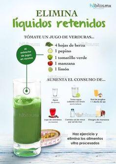 Hábitos Health Coaching | JUGO DE VERDURAS ELIMINAR LÍQUIDOS RETENIDOS