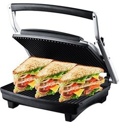 ZZ S677 Gourmet Grill Panini And Sandwich Press With Large Cooking Surface #ZZ