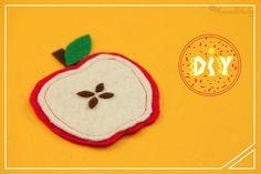 Posavasos de fieltro con forma de manzanas - IMujer