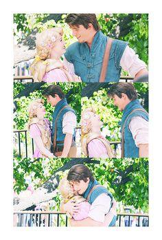 Rapunzel and Eugene Rapunzel Cosplay, Rapunzel And Eugene, Tangled Rapunzel, Disney Tangled, Disney Magic, Walt Disney Characters, Disney Parks, Walt Disney World, Disney And More