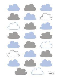 Lilipinso Kinderzimmer Wandtattoo 'Wolken' blau/grau 23-teilig - im Fantasyroom Shop online bestellen oder im Ladengeschäft in Lörrach kaufen. Besuchen Sie uns!
