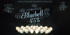 Bluebell Font: Bluebell is a modern script type family in the style of copperplate calligraphy.